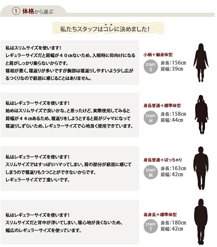 体格から選ぶ