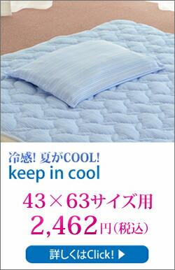 キープインクール「枕カバー 43×63サイズ」