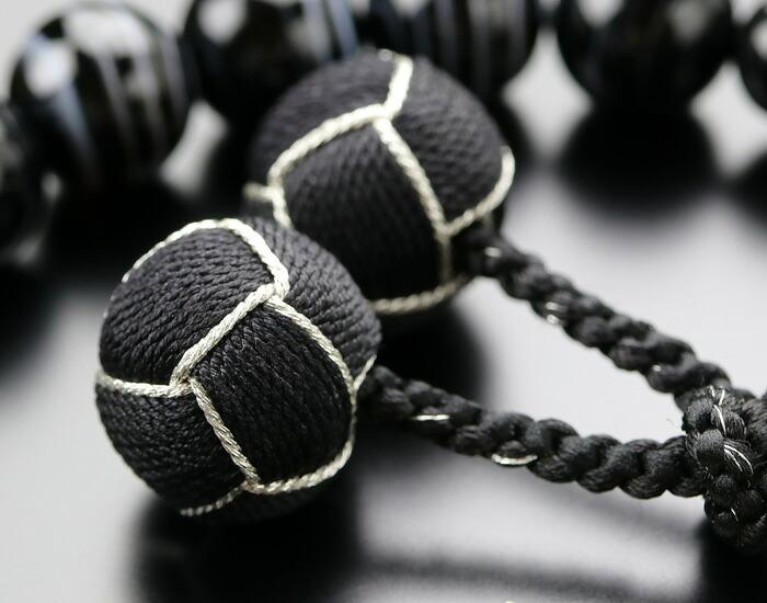 数珠 黒縞瑪瑙