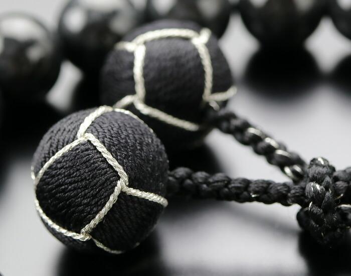 数珠 黒ビルマ翡翠