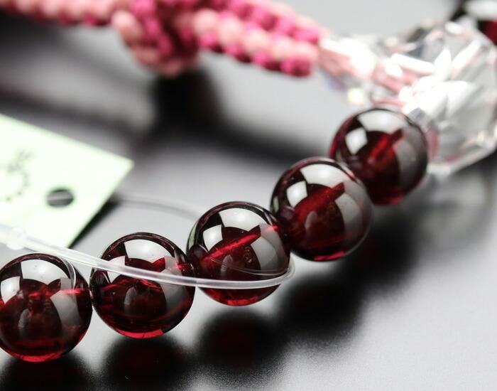 数珠 ロードライトガーネット