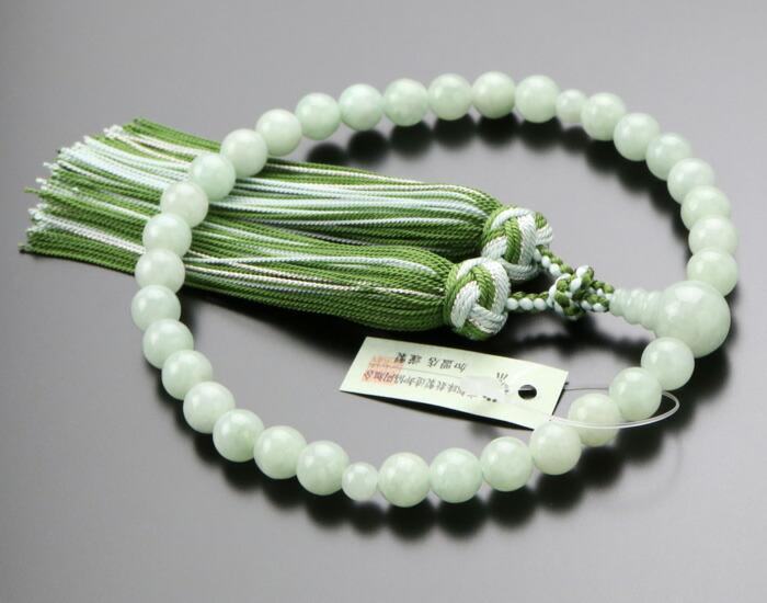 数珠 翡翠,5月の誕生石,女性用