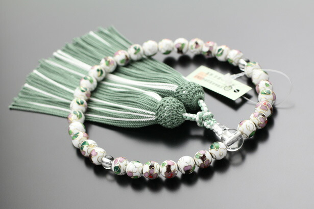 オーダー 数珠 女性用 七宝焼