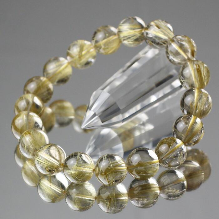 ゴールドルチルクォーツ 数珠