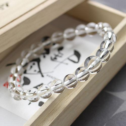 約8ミリ 本水晶 数珠ブレスレット
