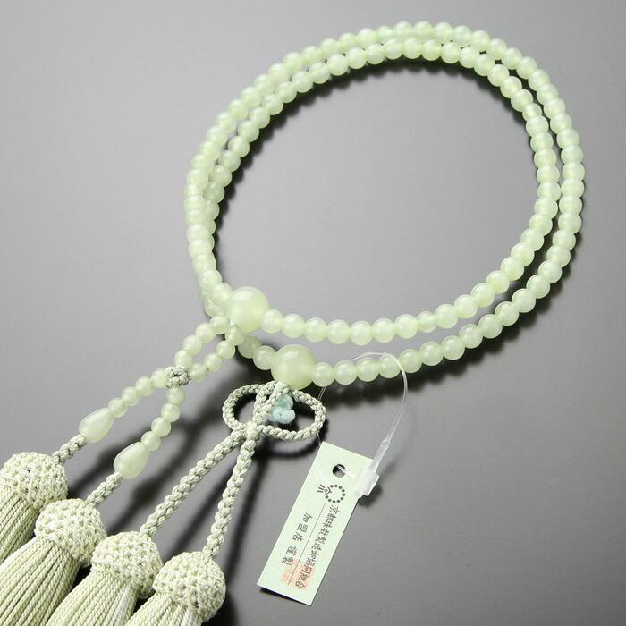 浄土真宗,数珠,女性用,グリーンオニキス