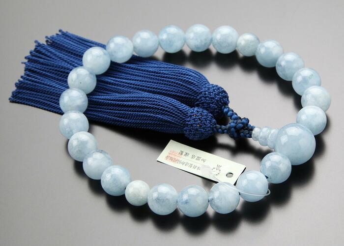 アクアマリン 数珠