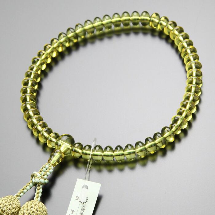 グリーンアンバー 数珠