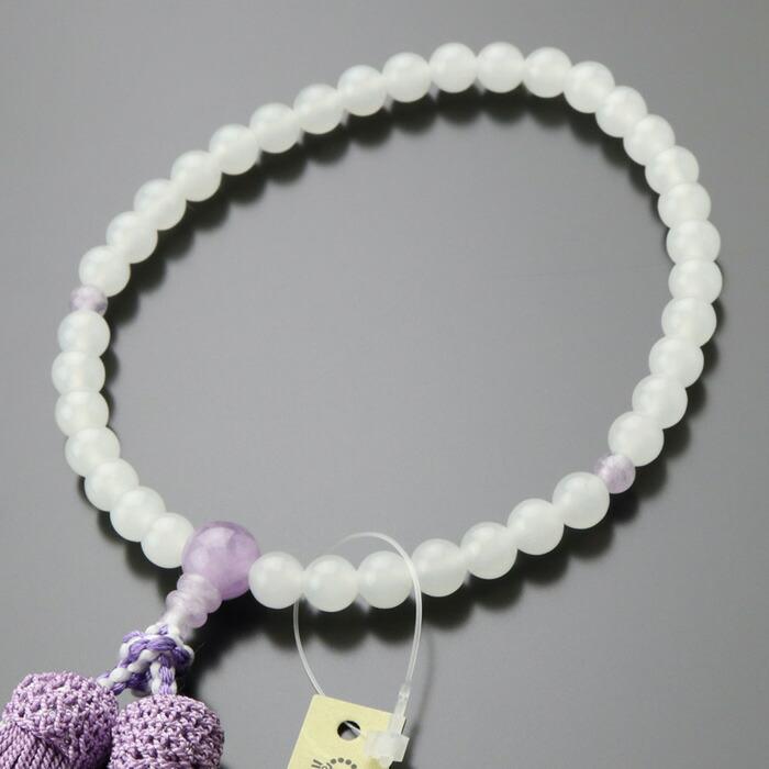 数珠 女性用 白オニキス