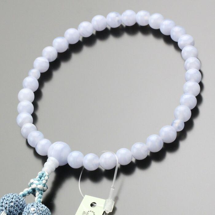 数珠 ブルーレース
