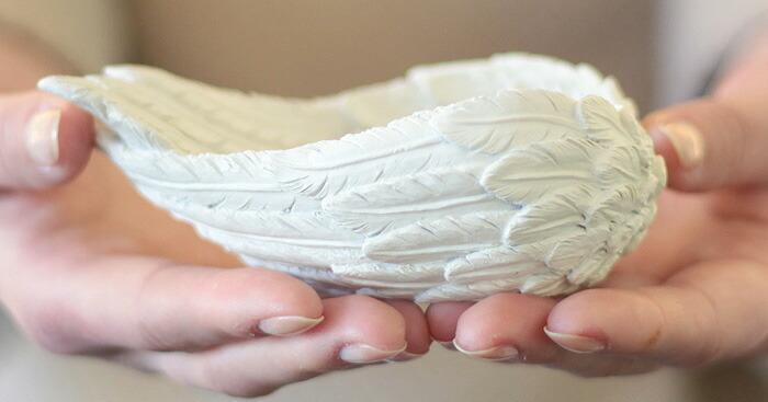 天使の羽皿