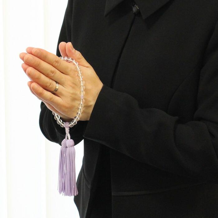 数珠 女性用 水晶