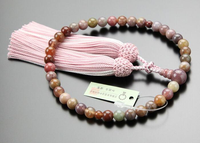 ピンク印度瑪瑙 数珠