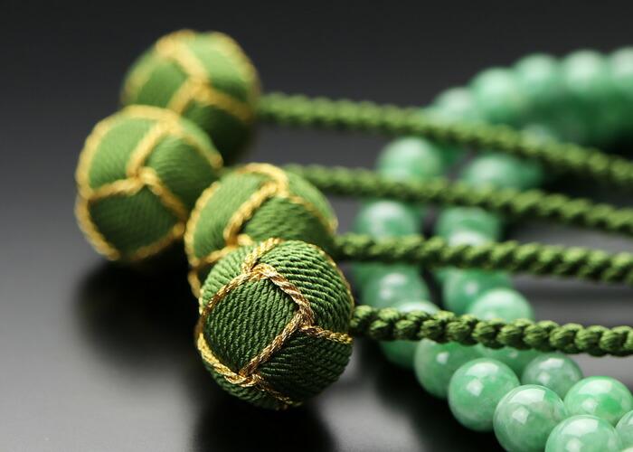 天然 翡翠 数珠