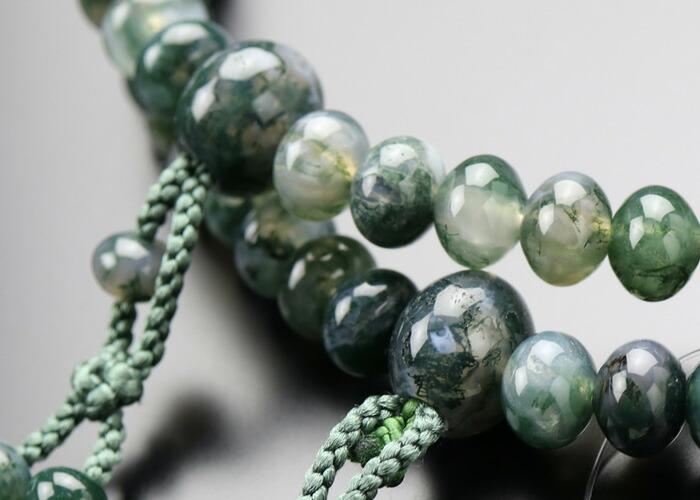 青苔瑪瑙 数珠