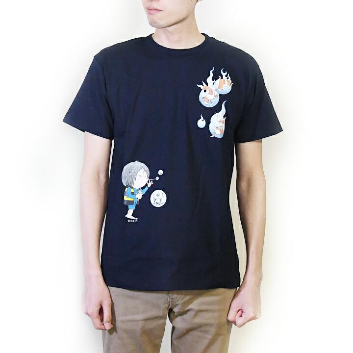 ゲゲゲの鬼太郎コラボTシャツ 夏シリーズ(金魚(だま))