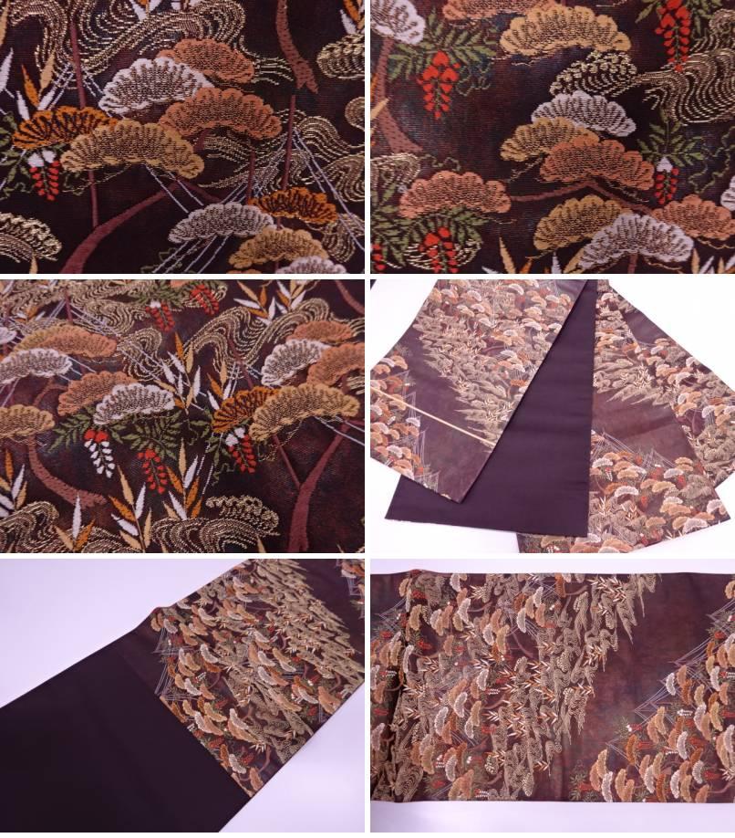 51a8287bf620 帯サイズ>長さ432幅31. 時代:現代状態:非常によい素材:正絹色目:焦げ茶状態は大変良いです。 着用可能です。