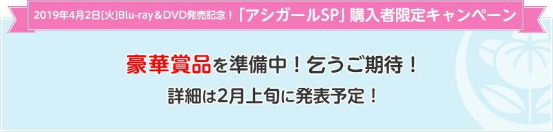 2019年4月2日[火]Blu-ray&DVD発売記念!「アシガールSP」購入者限定キャンペーン