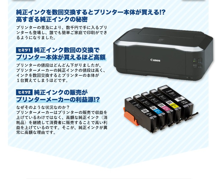 互換インク導入で印刷コスト90%削減を実現