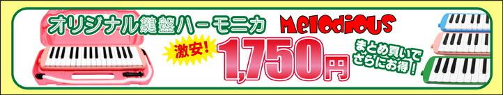 鍵盤ハーモニカが驚愕の1,750円!