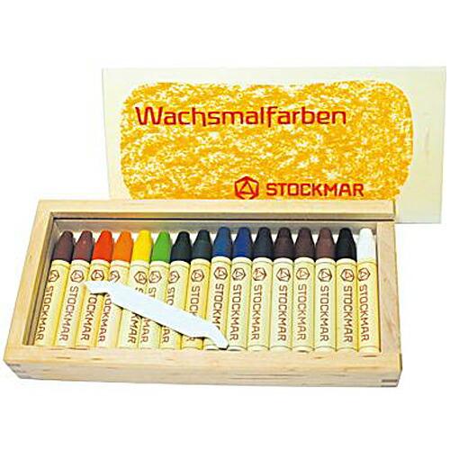 シュトックマー社 スティッククレヨン 16色木箱