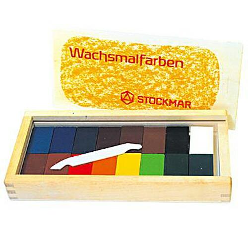 シュトックマー社 ブロッククレヨン 16色木箱