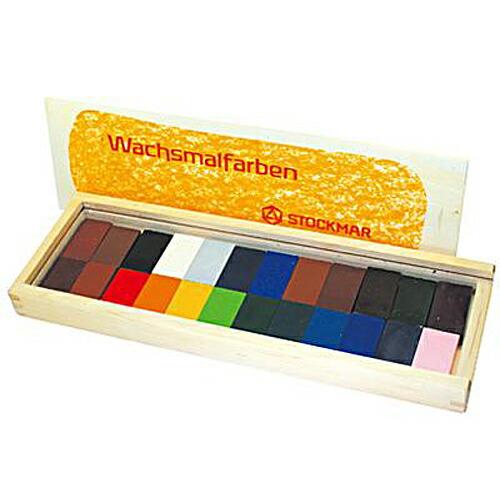 シュトックマー社 ブロッククレヨン 24色木箱
