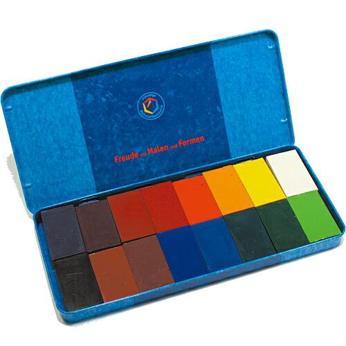 シュトックマー社 蜜ろうブロッククレヨン 16色缶