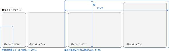 LP-50,55シリーズ専用ラベル