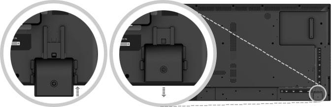 収納式LEDインジケータ】IRレシーバを背面に設置し、すっきりしたベゼルデザインを実現
