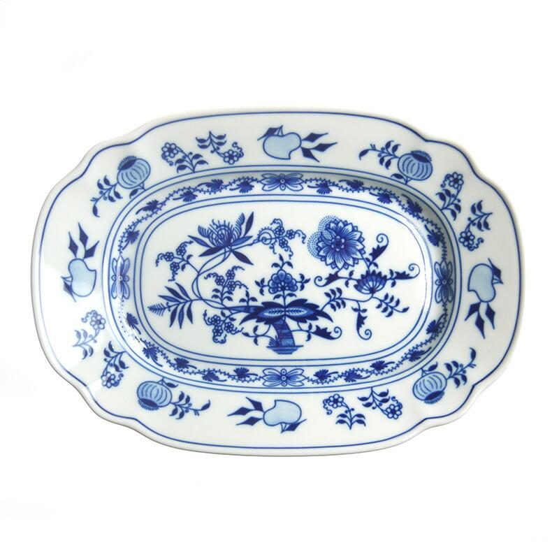 カールスバード ブルーオニオン (Carlsbad Blue Onion) オーバルパスタプレート 24cm 10375