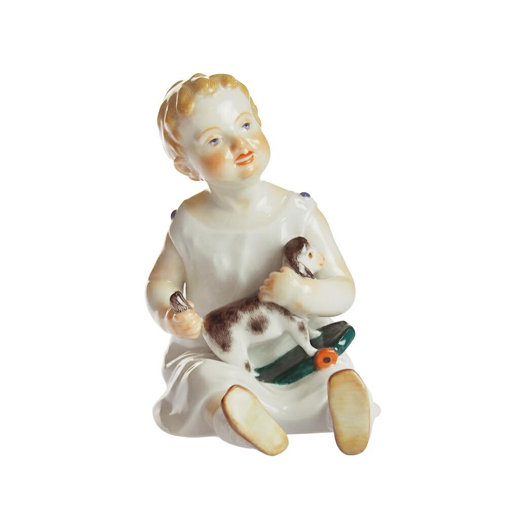 ヴィンテージ<br>マイセン (Meissen)<br>ヘンチェル 人形 おもちゃの少年 1900年頃