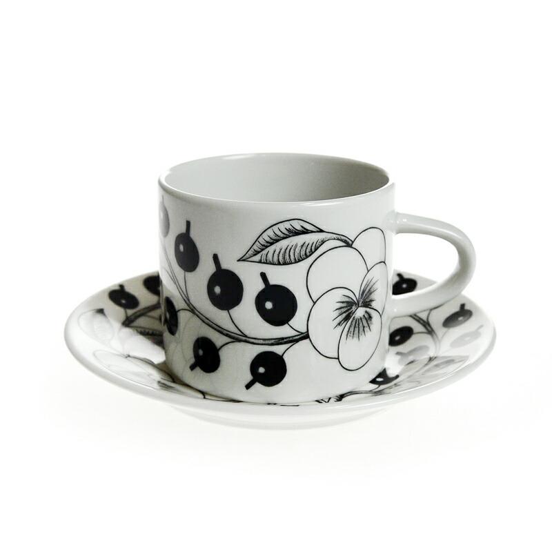 アラビア (ARABIA) ブラックパラティッシ コーヒーカップ&ソーサー 180ml