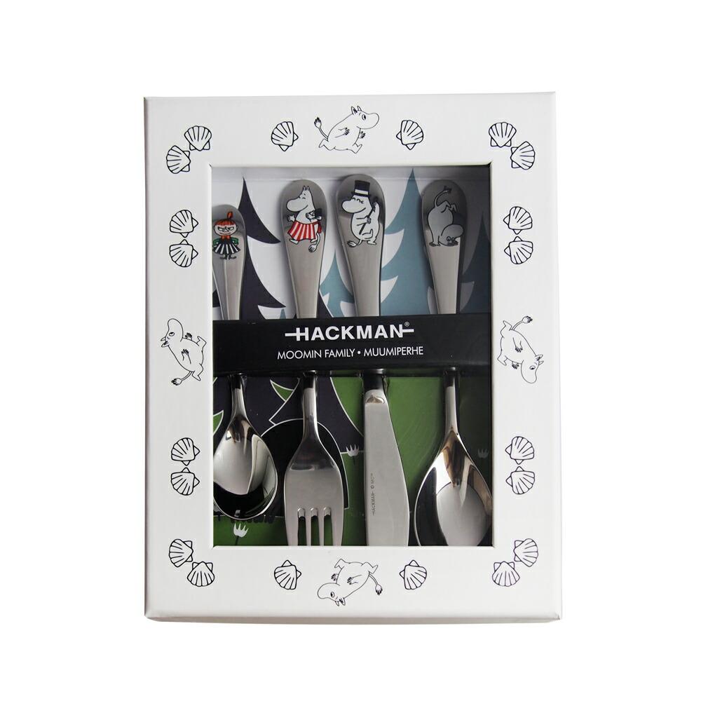 ハックマン (HACKMAN) ムーミン カトラリー チルドレンセット ファミリー 4pcs