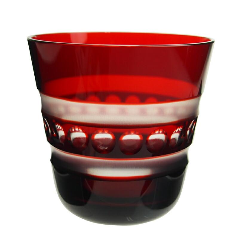 ロターグラス (Rotter Glass) フリースタイル Perlband F タンブラー[M] ルビー