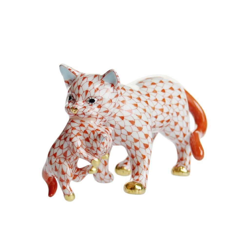 ヘレンド (HEREND) 人形 VH 子猫をくわえた猫 05551【あす楽対応】