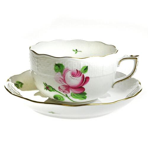 【送料無料祭】<br>ヘレンド (HEREND) RB 薔薇と蕾 ティーカップ&ソーサー 724【あす楽対応】