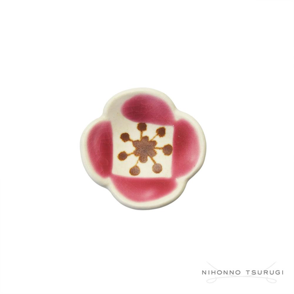 葛西国太郎 HANI 色絵箸置き POPPY ピンク