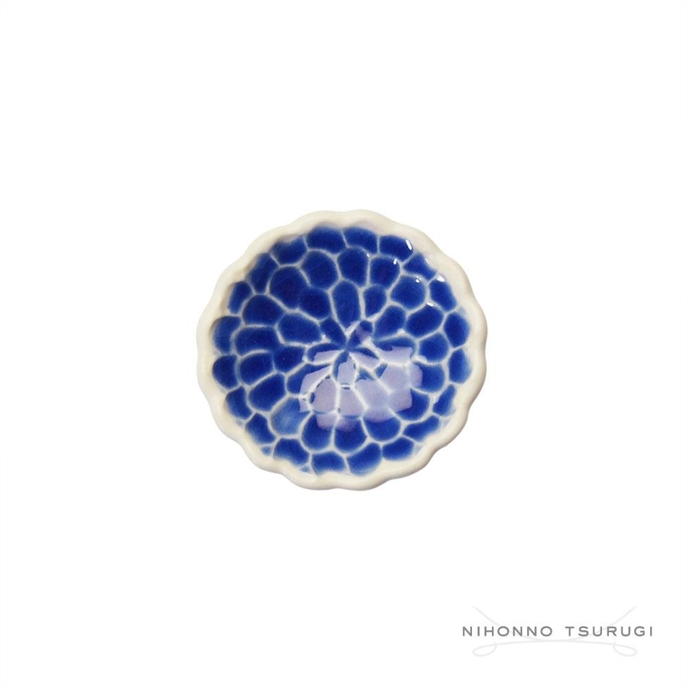 葛西国太郎 HANI 色絵箸置き MUM 青