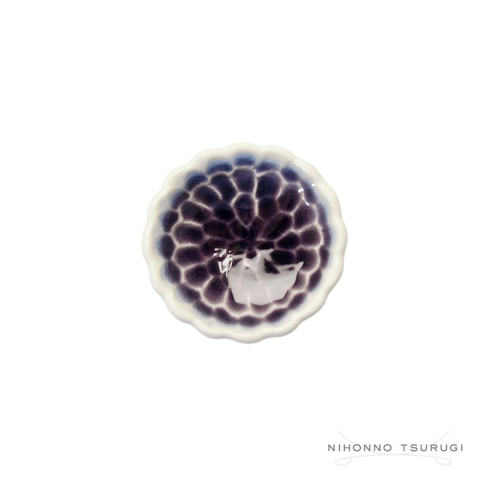 葛西国太郎 HANI 色絵箸置き MUM 紫