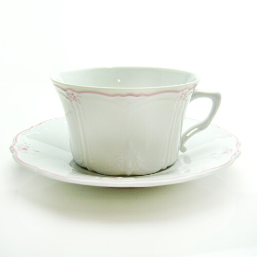 フッチェンロイター (HUTSCHEN REUTHER) エステール ピンク ティーカップ&ソーサー