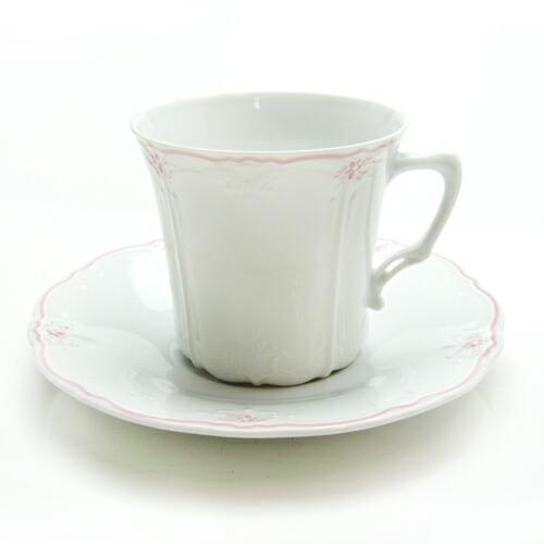 フッチェンロイター エステール ピンク コーヒーカップ&ソーサー