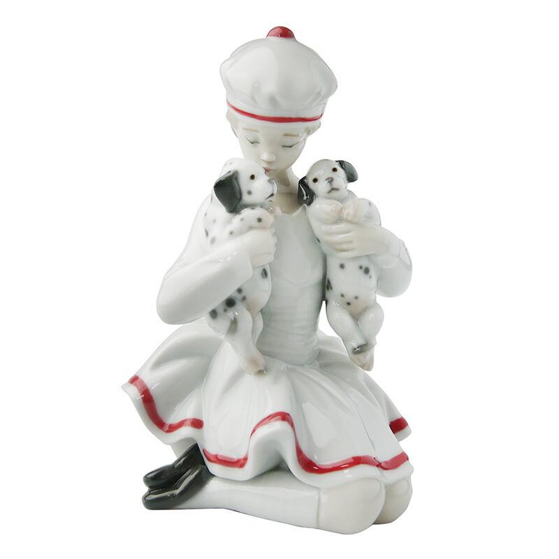 リヤドロ (LLADRO) 人形 甘えん坊ダルメシアンの兄弟 8521