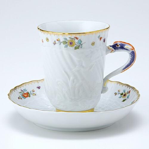 マイセン (Meissen) スワン コーヒーカップ&ソーサー 05585