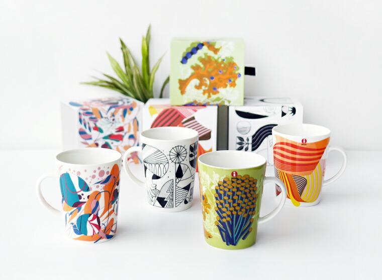 アーティスティックなマグカップコレクション