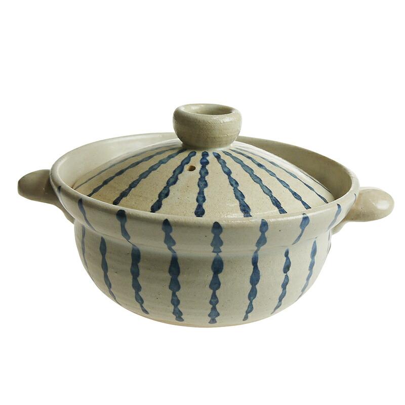 陶房ななかまど とくさ紋 1~2人用土鍋