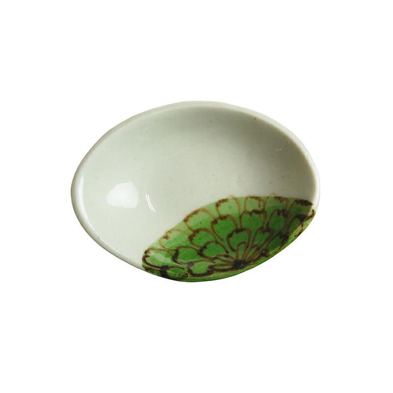 陶房ななかまど 花紋豆皿