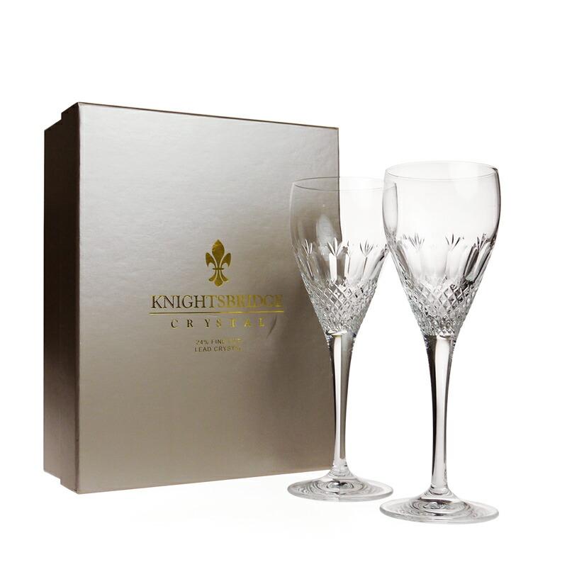 ナイツブリッジ (KNIGHTSBRIDGE) ケンジントン ワイングラス [L] ペア<br>【※箱に少々の痛みあり※】
