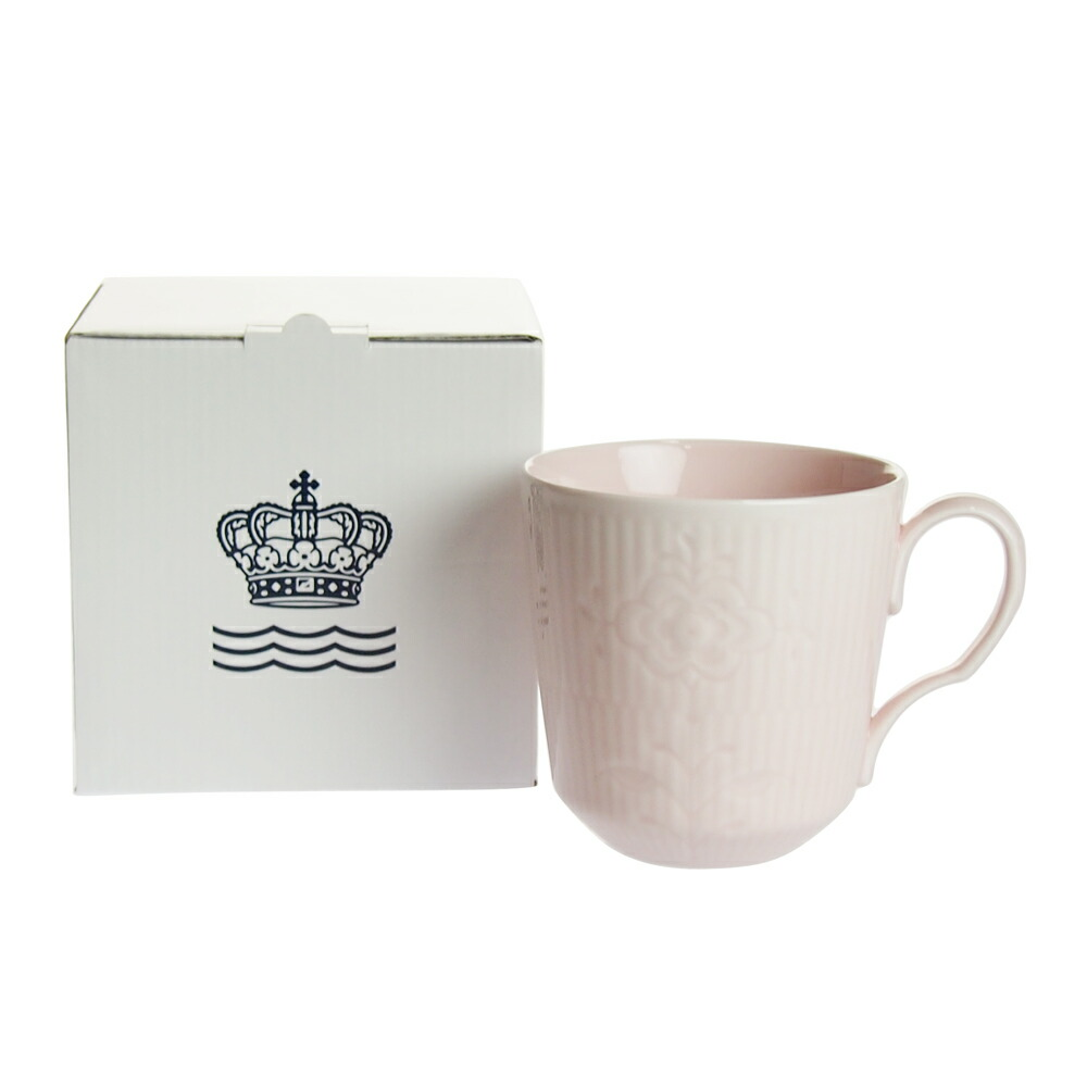 ロイヤルコペンハーゲン フラワーエンブレム マグカップ ピンクレディー 2-637-102