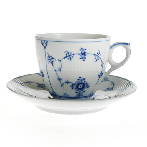ロイヤルコペンハーゲン ブルーフルーテッド プレイン 101-071 コーヒーカップ&ソーサー